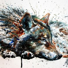 Wolf Art Print Ilustração de Lobo.