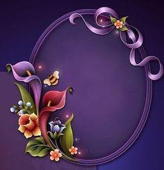 Flower Frame, Flower Art, Molduras Vintage, Boarder Designs, Ribbon Logo, Photo Frame Design, Plaster Sculpture, Flower Phone Wallpaper, Birthday Frames