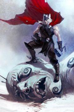 Thor w a jotunn (devourer)