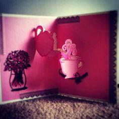 Popupkarte teatime pink