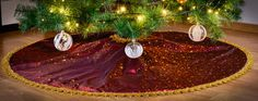 Christmas Holiday Tree Skirt Custom Made by KakaduDesign on Etsy Holiday Tree, Christmas Holidays, Christmas Tree, Holiday Decor, Tree Skirts, Trending Outfits, Unique Jewelry, Handmade Gifts, Etsy
