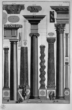 polychroniadis:'Relationships and symmetries of architecture derived from Greek Ancient Monuments' by Giovanni Battista Piranesi.
