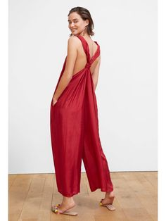 Louve Jumpsuit in Red | Mes Demoiselles | MAISONMAILLOT.COM