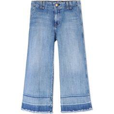 Current/Elliott Denim Capris (420 CAD) ❤ liked on Polyvore featuring pants, capris, bottoms, jeans, blue, denim trousers, current elliott pants, blue trousers, denim capris and blue pants