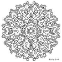 203 printable intricate mandala coloring pages instant download pdf mandala doodling page - Intricate Mandalas Coloring Pages