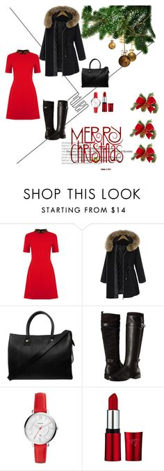 """merry christmas"" by almma-karic ❤ liked on Polyvore featuring Oasis, Paul & Joe, Aerosoles and FOSSIL"
