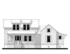 Holiday House (variation) House Plan (123108) Design from Allison Ramsey Architects