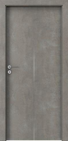 Drzwi wewnętrzne Porta LINE H.1 Okleina CPL HQ 0,2 ***** Beton jasny