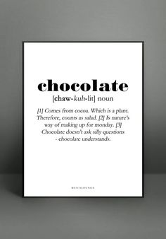 Chocolate poster from Men's Lounge #livingsweetliving