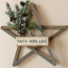 Weathered Wood Rustic Star Wreath. $28.00, via Etsy.