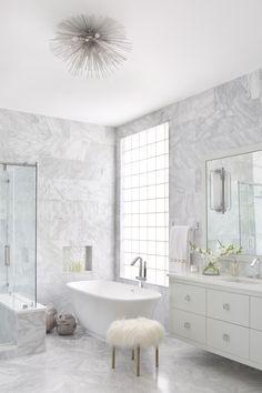 marble wall tile, floating vanity