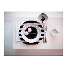 b&w striped plates- IKEA