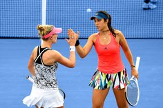 Out of the Blue - Day 4   September 01, 2016 - Louisa Chirico and Alison Riske in action against Jacqueline Cako and Danielle Lao during the 2016 US Open at the USTA Billie Jean King National Tennis Center in Flushing, NY.