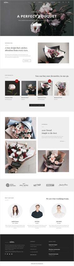 Nito is a clean and minimal multipurpose #WordPress theme for stunning #flower #shop website with 21+ unique homepage layouts download now➩ https://themeforest.net/item/nito-a-clean-minimal-multipurpose-wordpress-theme/17897172?ref=Datasata Analisamos os 150 Melhores Templates WordPress e colocamos tudo neste E-Book dividido por 15 categorias e nichos de mercado. Download GRATUITO em http://www.estrategiadigital.pt/150-melhores-templates-wordpress/