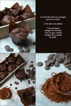 Recette facile muffins au chocolat - muffinzlover.blogspot.fr Brownie Cake, Brownie Cookies, Brownies, Muffin Cups, Sweet Tooth, Food And Drink, Cupcakes, Dishes, Food Cakes