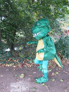 Shiny T-Rex Costume for a Dinosaur-Obsessed 6-Year-Old Girl... This website is the Pinterest of costumes