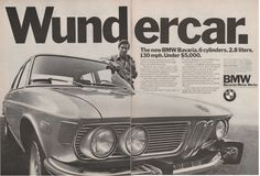 1969-1975 BMW Bavaria Wundercare - 2 page vintage ad