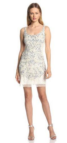 Adrianna Papell Women's Sleeveless Short Beaded Cocktail Dress (50% Off)