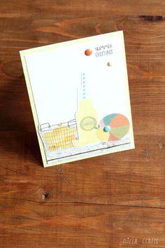Summer Greetings Card ( July Simple Kit by Paperoamo)  #simplestories #cardmaking #summervibes #summer