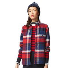 WOMEN Sherpa Flannel Long Sleeve Shirt   UNIQLO