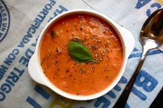The best Tomato Soup ever, dairy free, with the crackers already incorporated into recipe!