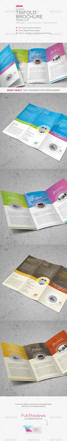 Clean Trifold Brochure Template Graphicriver Here S Another Pack I Designed For Graphic