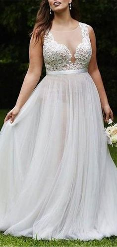 Sexy Champagne See Through A line Wedding Dresses Online - April 27 2019 at Plus Wedding Dresses, Western Wedding Dresses, Plus Size Wedding, Cheap Wedding Dress, Bridal Dresses, Wedding Gowns, Champagne Wedding Dresses, Lace Wedding, Wedding Venues