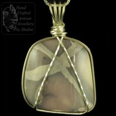 Porcelain Jasper Wire Sculpted Pendant. Sold! Commissions and Bespoke Orders Welcome. The #Jasper Cabochon was cut from rough and hand polished in our Lapidary Workshop in #Stamford.