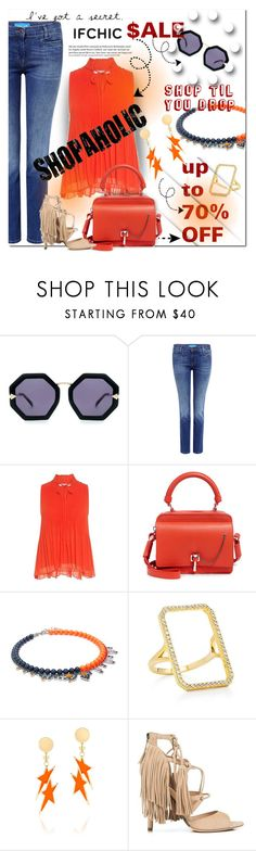 """""""IFCHIC: Summer Sale"""" by wanda-india-acosta ❤ liked on Polyvore featuring Karen Walker, M.i.h Jeans, 10 Crosby Derek Lam, Carven, Joomi Lim, Fallon, Marissa Webb, summersale and ifchic"""