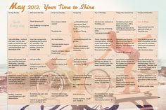 Tone It Up Fitness Calendar: May