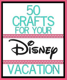 So many cute Disney craft ideas! Especially like the matching shirts (likely a bright color) so it is easy to keep track of the crew!