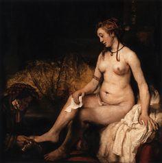 REMBRANDT Harmenszoon van Rijn Bathsheba at Her Bath 1654 Oil on canvas, 142 x 142 cm Musée du Louvre, Paris