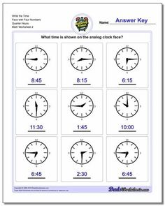 `Telling Time Worksheets are a great way to practice reading a clock or watch face. On most of these worksheets, grade school students will be presented with a clock fact they either need to read to tell time or that they need to color in the hands to reflect a given digital time. Printable PDF files with answer keys. Clock Worksheets, Line Plot Worksheets, First Grade Math Worksheets, Free Printable Math Worksheets, Addition Worksheets, Printables, Scatter Plot Worksheet, Time Word Problems, Basic Math