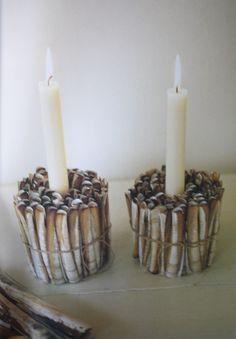 Razor Shell Candle Holders
