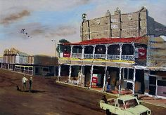 Artists impression of the Royal Hotel, Roma, Queensland by MrCreator http://www.redbubble.com/people/mrcreator/works/26630-royal-hotel-roma-queensland-australia