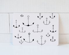 Anchors Postcard  Anchor A6 print by LesMiniboux on Etsy, €2.50