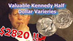 Valuable Kennedy Half Dollars Worth Money - 1982 no FG Variety Coin Valuable Pennies, Valuable Coins, Antique Coins, Old Coins, Penny Values, Rare Coins Worth Money, Kennedy Half Dollar, Coin Worth, Coin Values