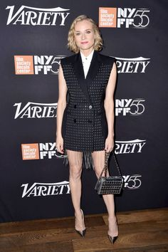Diane Kruger in Versace - Elite Entertainment Event, New York - October 4 2017