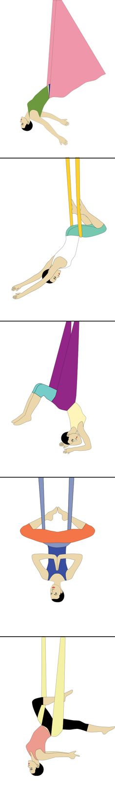 #Inversions #aerial yoga poses- Inverted Aerial yoga poses and pose guide.
