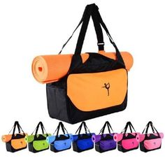 Gentle Yoga Mat Bag Waterproof Backpack Shoulder Messenger Sport Clothes Duffel Bag For Womens Fitness Gym Bag no Yoga Mat Ropa, Calzado Y Complementos