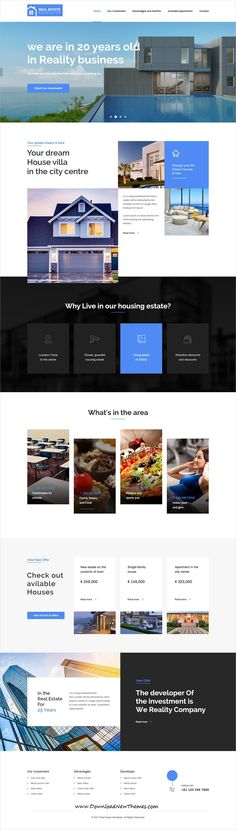 TheCapital is clean and modern design multipurpose PSD #template for creative #realestate and #property business #website with 14 niche homepage layouts and 40 layered PSD files to live preview & download click on image or Visit