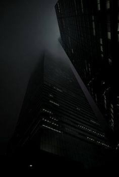 Foggy City- black and white photography Dark City, Foto Art, Happy Colors, Shades Of Black, Black Dark, Matte Black, Architecture, Black And White Photography, Photos