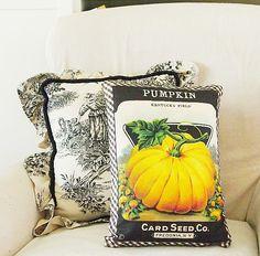Pumpkin Seed Packet Pillow & DIY Typography Pumpkin