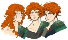 Merida's Brothers as Adults