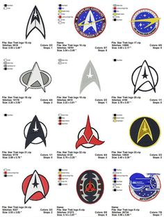 Shoply.com -STAR TREK LOGO (2) - 12  Embridey designs. Only $12.99
