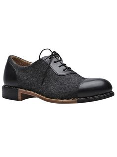 Mr. Smith oxford in graphite black from The Office of Angela Scott.