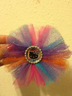 Hello Kitty tulle hair bow