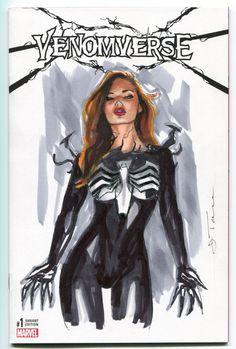 Mary Jane Venom Comic Art