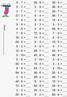 Lessons: multiplication tables – mixed exercises Best Picture For Education pictures For Your Taste You are looking for something, and Money Worksheets, School Worksheets, Math Exercises, Math Multiplication, Math Practices, 1st Grade Math, Math For Kids, Math Lessons, Teaching Math