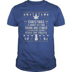 Christmas family love canabis - Tshirt